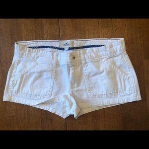 HOLLISTER White Cotton Shorts Size 3